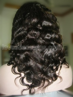 Hot sell body wave 100% virgin Chinese hair heavy density full lace wig
