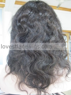 custom body wave 100% chinese virgin hair silk based heavy density full lace wig