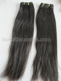 Excellent quality 18 inch malaysian virgin hair natural color straight hair extension