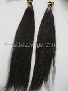 Silky straight 100% Indian remy hair hand tied hair extension