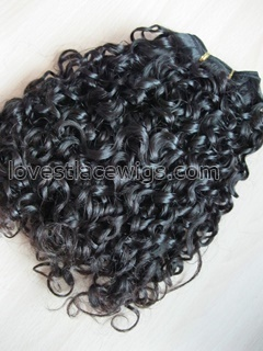Hair extension curly wefts Brazilian Virgin Remy