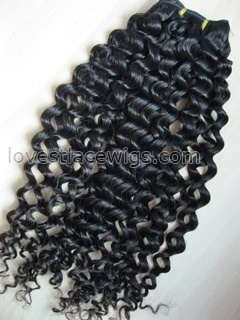 Best selling Chinese virgin hair water wave hair wefts