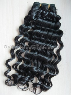 Chinese Virgin Loose Wave Machine Wefted Hair