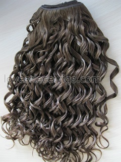 Chinese virgin hair curl hair wefts