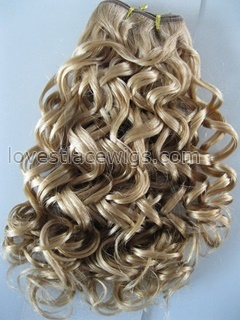 Blonde 100% Chinese virgin hair sexy wave hair wefts