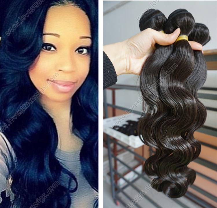 Brazilian Virgin Hair Extension Weft Remy Weaves Weave Bundles Cheap