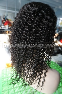 wigs human hair for black women lace front wig Curly black indian african american cheap remy natural parts baby hair kinky curl afro long