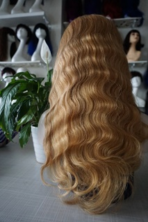 indian remy human hair blonde lace front wig with baby hair