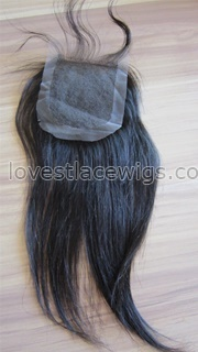 Chinese virgin hair Natural straight top closure