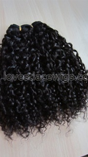 High quality 100% Malaysian virgin remy tight curly hair weaves wholesale