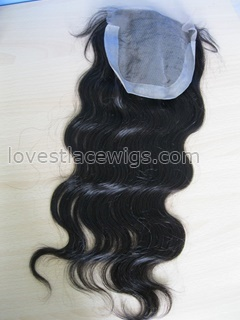 Malaysian virgin hair body wave top closure
