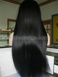 Customised yaki straight virgin Malaysian hair full lace wigs for black woman 160% density