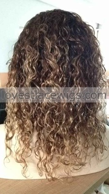 indian remy hair #1b 4 27 ombre color human three tone full lace wigs can be straightened