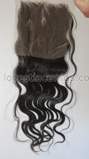 Hot sale middle part chinese virgin hair body wave top closure