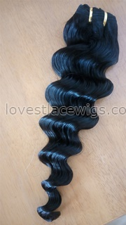 Cheap Hair!100% Malaysian Virgin Hair Human Hair Weave Wavy Deep Body Wave Natural Color Hair Extensions