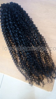 """100% Malaysian Virgin Hair Extensions Natural Color Kinky Curl Hair Wefts 6-24"""" Human machine made Hair Wefts HW-10"""