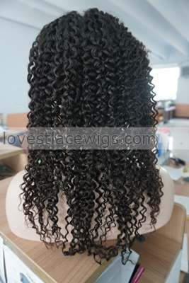 free part soft curly indian remy human hair lace front wig wigs for black women