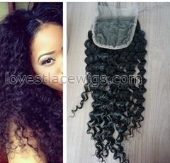 Malaysian virgin hair top closure hair kinky curl lace closures cheap malaysian human hair lace closures