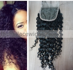 malaysian virgin hair top closure kinky curl lace closures cheap human