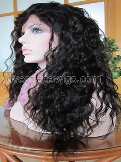 Loose wave wholesale 100% indian hair lace front wig for lady