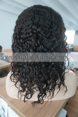 """100% indian remy human hair front lace wig curly 8""""-24"""" 1b# wigs for black women"""