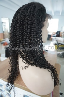 Kinky Curly Indian remy Full Lace Human Hair Wigs with baby hair around full lace wig afro kinky curl For Black Women