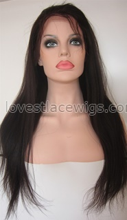 Yaki straight Lace front wig Beatuty #2 natural baby hair Indian Remy Human Hair French Lace wigs online affordable