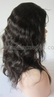 Custom chinese virgin hair natural color full lace wigs with silk top
