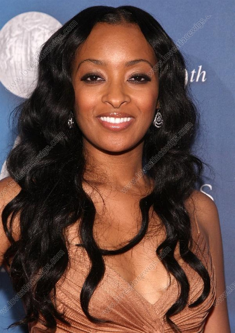 Deep wave 20 inch black 100% Indian remy hair full lace wig in stock