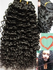 High quality curly malaysian virgin hair natural color hair weft in stock