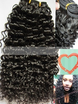 high quality curly malaysian virgin hair natural color weft in stock