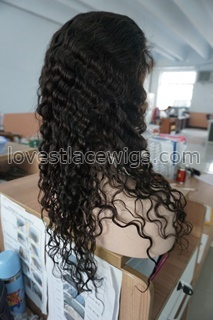 Fabulous Deep Body Wave Front Lace Wigs With Baby Hair Indian remy Hair Human Hair Wavy Wig Density 120%