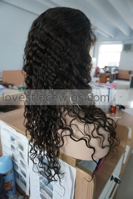 fabulous deep body wave front lace wigs with baby hair indian remy human wavy wig density 120%