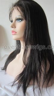Best selling Yaki straight indian hair full lace wigs for black woman
