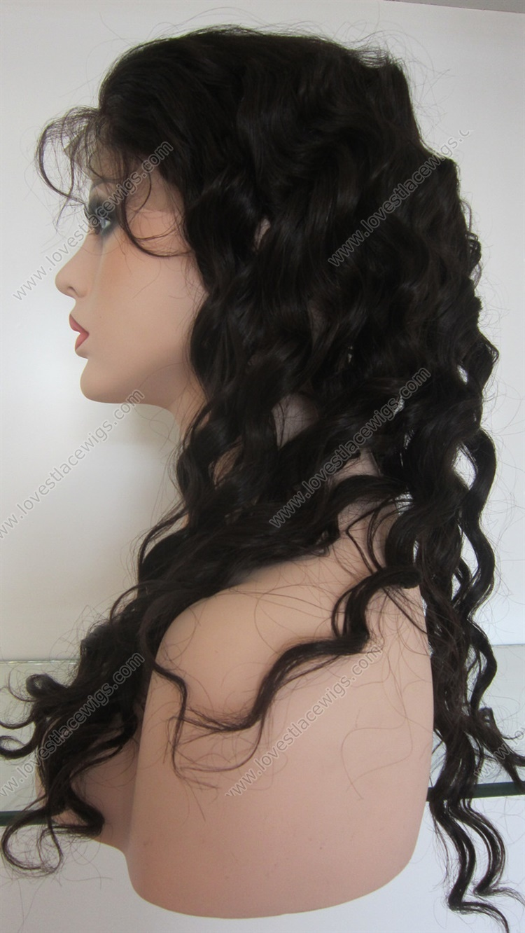 Full lace wig wavy Indian remy