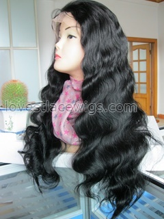 High quality heavy density indian remy hair body wave full lace wigs in stock