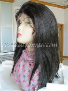 130% heavy density Silky straight indian hair full lace wig for lady