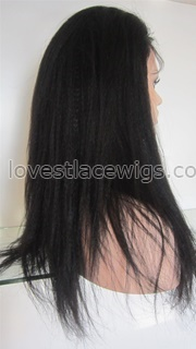 Hot sale Italian Yaki straight indian hair full lace wigs with baby hair