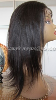 New style Yaki straight indian hair full lace wigs for black woman