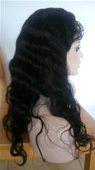 Large cap size Indian remy hair wigs in stock