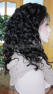 Romance wave 100% chinese virgin hair natural color full lace wig in stock