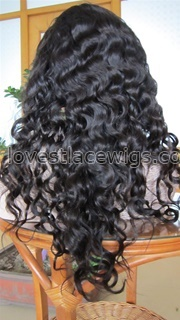 Romance wave natural color Chinese virgin hair Full lace wigs in stock wholesale