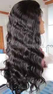 Hot selling wavy 100% chinese virgin hair natural color natural straight full lace wig with baby hair
