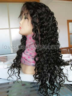 Super wave indian remy hair full lace wigs in stock