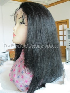 Yaki straight 100% Indian remy hair full lace wigs