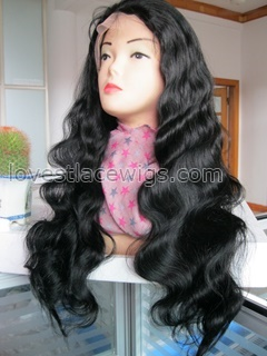 Hot sale heavy density fashion body wave indian remy hair full lace wig