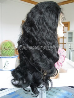 No tangle no shedding 100% Indian remy hair body wave heavy density full lace wig