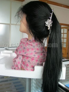 Fashion Yaki straight indian hair full lace wig for lady wholesale