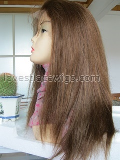 Hot selling indian hair silky straight full lace wig for black woman