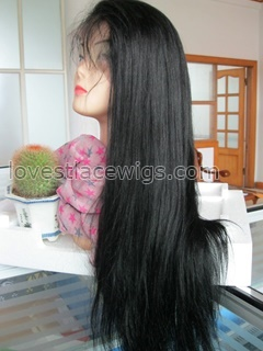 Yaki straight full lace wigs in stock